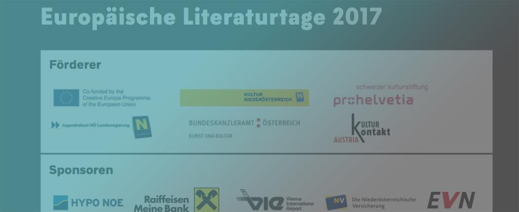 9. EUROPÄISCHEN LITERATURTAGE 16.-19.NOVEMBER 2017 SPITZ/KREMS A.D. DONAU