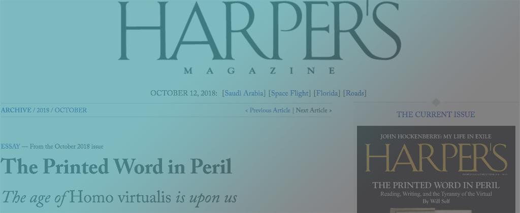 E-READ media coverage by Harper's Magazine