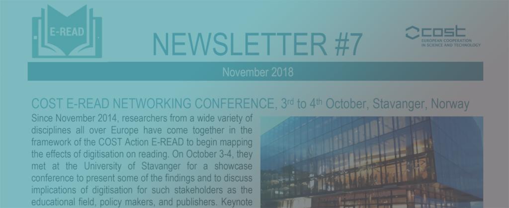 E-READ newsletter No. 7